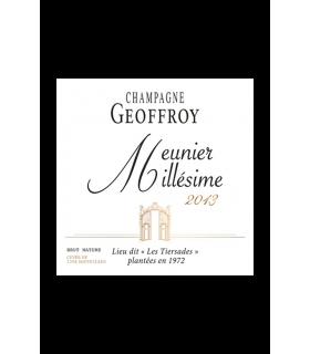 Meunier 2013 Brut Nature - Champagne Geoffroy